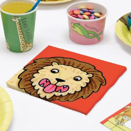 Dear Zoo Lion Paper Napkins - pack of 20